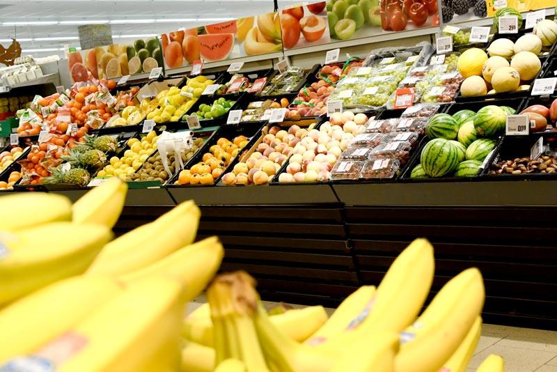 Obst und Gemüse im REWE in Neu-Ulm