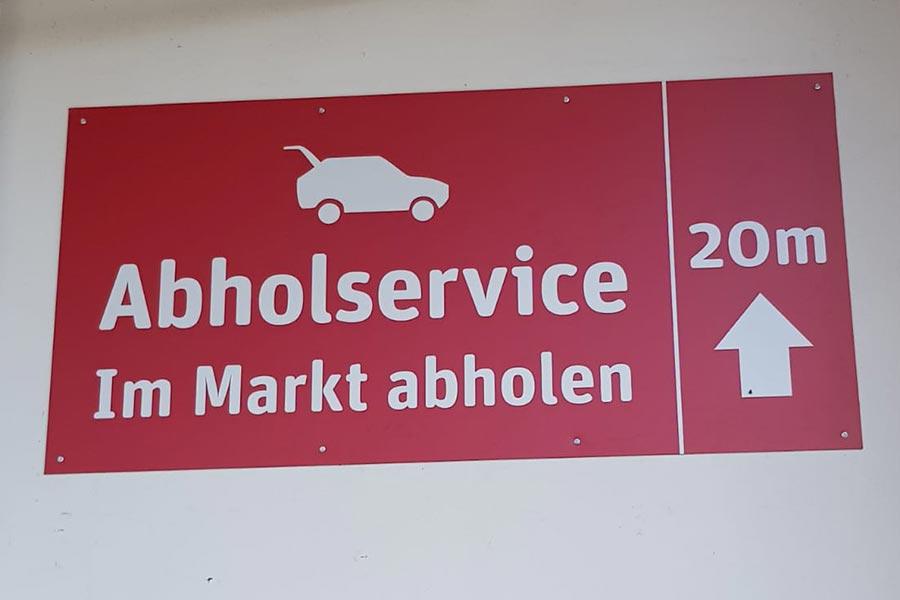 Abholservice bei REWE in Neu-Ulm